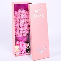 普拉度 三八節 情人節 玫瑰花禮盒香肥皂仿真假鮮花