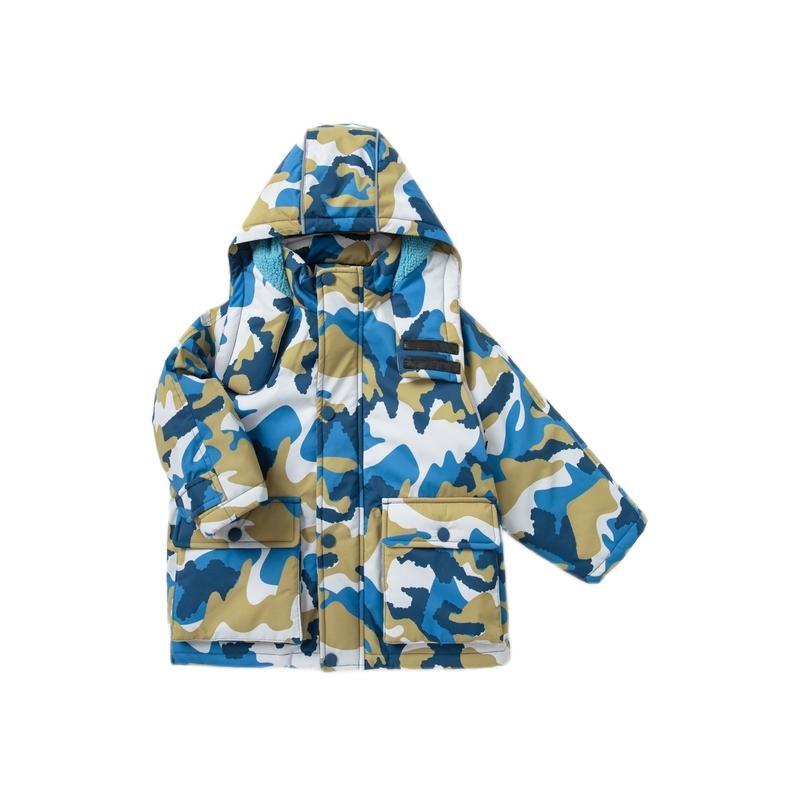 Mini Balabala 迷你巴拉巴拉 0383 男童棉服 蓝黄色调 90cm
