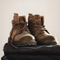 男鞋2021春季工装靴中帮沙漠靴高帮英伦马丁靴休闲潮男真皮短靴子