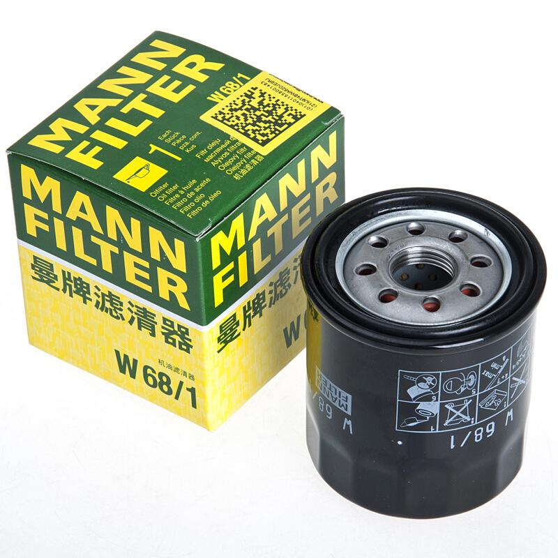 MANN 曼牌 W68/1 机油滤清器 丰田/吉利车型可用
