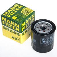 MANNFILTER 曼牌滤清器 MANN 曼牌 W68/1 机油滤清器 丰田/吉利车型可用
