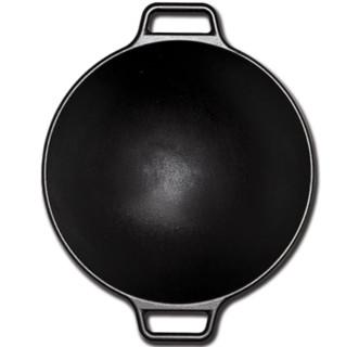 Lodge 洛极 logic系列 P14W3 炒锅(35.6cm、无涂层、铸铁、黑色)