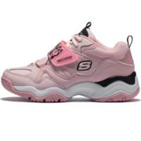 SKECHERS 斯凯奇 DLITES系列 66666276 厚底老爹熊猫儿童女鞋 粉红色 38.5码