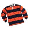 BARBARIAN 中性条纹POLO衫 HAL1700-NAOR 深蓝色/橘色 XS