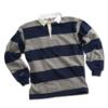 BARBARIAN 中性条纹POLO衫 HAL1700-OXNA 灰色/深蓝色 XXXL
