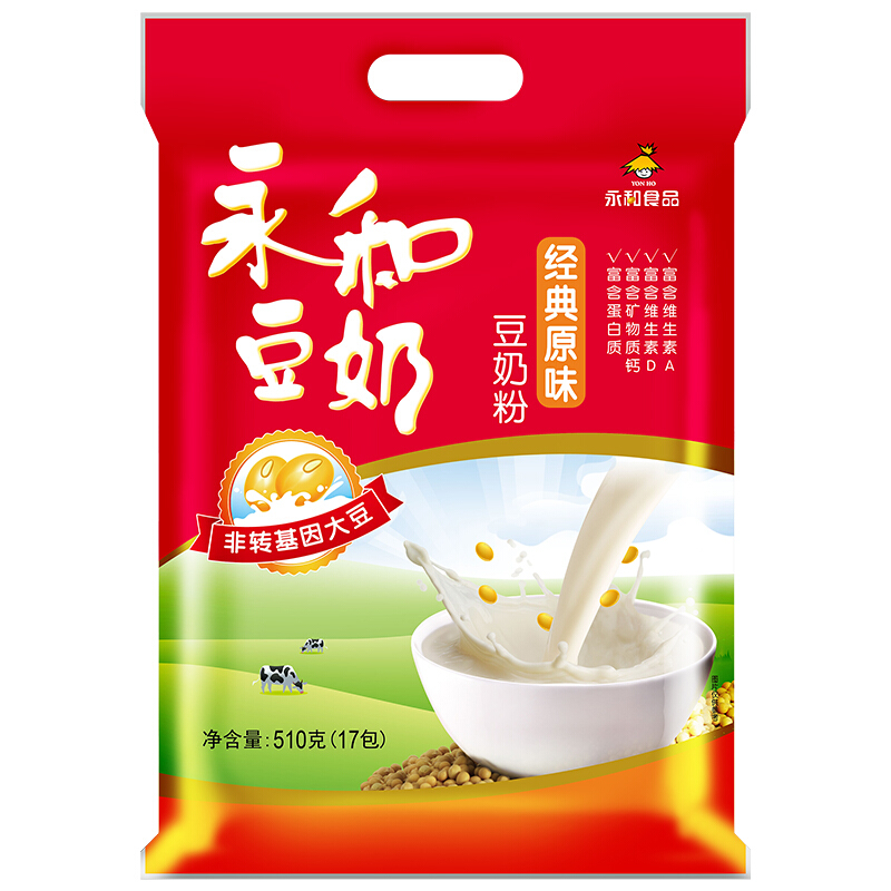 YON HO 永和豆浆 经典原味豆奶粉 510g