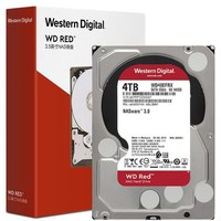 Western Digital 西部数据 红盘系列 WD40EFRX 3.5英寸NAS硬盘 4TB 64MB(5400rpm、PMR)