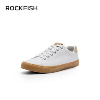 Rockfish牛筋小白鞋板鞋男复古男鞋2021新款男士百搭休闲鞋潮鞋春