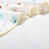 婴儿隔尿垫可洗夹棉儿童 50*70图案随机2条装