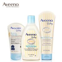 美国Aveeno艾惟诺婴儿洗护套装 洗发沐浴二合一保湿霜