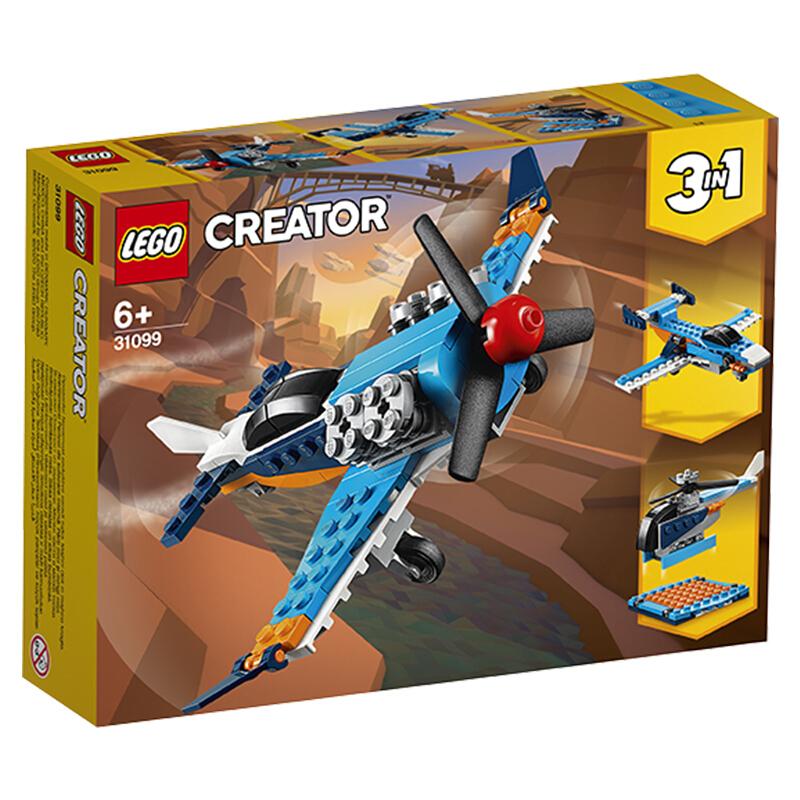 限地区 : LEGO 乐高 Creator 3合1 创意百变系列 31099 螺旋桨飞机