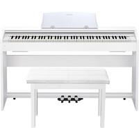 CASIO 卡西欧 电钢琴PX770白色+木架+双人琴凳+豪华礼包