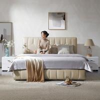 5日0点、女神超惠买: KUKa 顾家家居 BY.B502 简约现代布艺床 1.5/1.8m