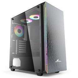 长城(Great Wall)盖世401电脑游戏机箱(RGB灯条/铝面板/ATX主板/360水冷/背线/垂直显卡/玻璃侧透/背线)