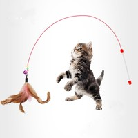 小花猫 超长逗猫棒 送发泡球
