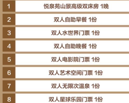 佛冈熹乐谷温泉度假酒店 悦泉苑山景高级双床房1晚 (含双人早餐+水世界门票+自助晚餐)