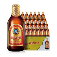 TSINGTAO 青岛啤酒 小棕金 啤酒 296ml*24瓶
