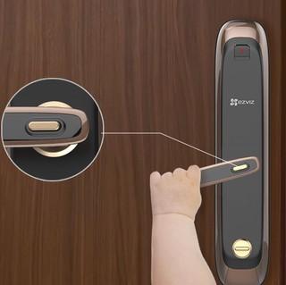 EZVIZ 萤石 指纹锁套装 DL21S铁门+DP1猫眼+32G卡