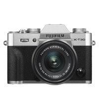 FUJIFILM 富士 X-T30 APS-C画幅 微单相机 银色 XC 15-45mm F3.5 OIS PZ 变焦镜头 单头套机