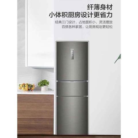 海尔(Haier)253升 三门冰箱 变频无霜 一级能效 干湿分储 节能静音 小冰箱 BCD-253WDPDU1