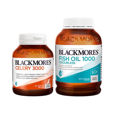 88VIP:Blackmores 澳佳宝 无腥味鱼油 400粒 + 芹菜籽精华 50粒