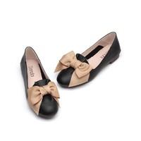 森达秋季专柜同款甜美蝴蝶结浅口平底女单鞋女鞋