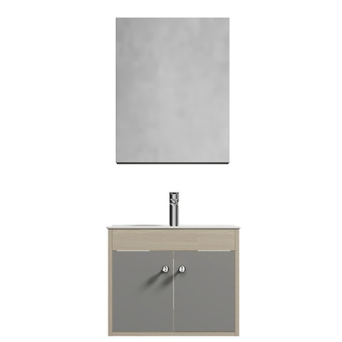 annwa 安华卫浴 N2D80G17-H 简约实木浴室柜 80cm
