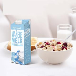 Flevomel 风车牧场 脱脂高钙纯牛奶 原味 1L*6盒