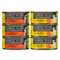 5日预售、女神超惠买:Omega Plus 奥鲑冠 帝王鲑牛肉鸭肉猫主食罐 85g*6罐