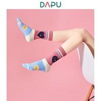 DAPU 大樸 AF0W0201009000 女士彩色棉質趣味中邦襪  3雙裝