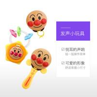 38节:ANPANMAN 面包超人 婴幼儿摇铃鼓铃沙锤快板响板玩具*2件
