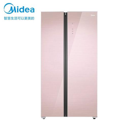 美的(Midea)548升 对开门双门家用冰箱智能家电保鲜智能变频风冷无霜一级能效冷藏冷冻节能 BCD-548WKGPZM(Q)