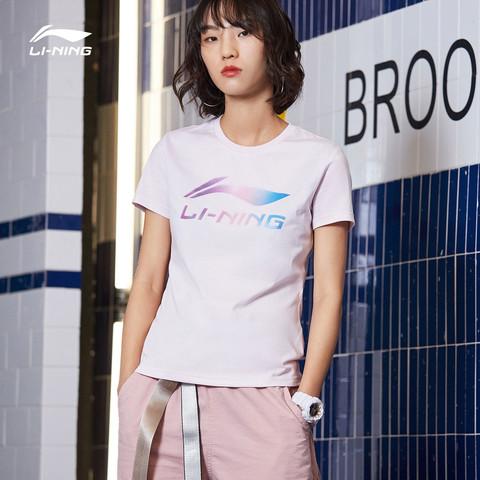 LI-NING 李宁 AHSP302 女款针织T恤