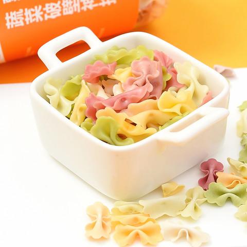 米小芽宝宝蝴蝶面条婴幼儿无添加儿童果蔬混合面食送辅食营养食谱
