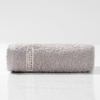 孚日洁玉 纯棉毛巾 日本出口AAA级抑菌技术纯棉加厚毛巾洗脸巾单条装 32*70cm 灰色 90g/条