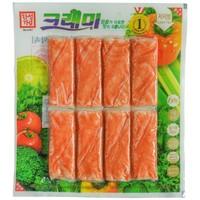 韩国原装进口蟹钳棒 客唻美模拟蟹肉蟹棒手撕蟹柳 网红即食零食