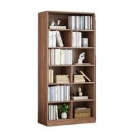唯品尖货:Naijia 耐家 落地简易大容量书架 南美胡桃木色 60CM