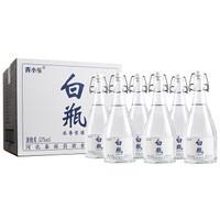 京东PLUS会员:青小乐 白瓶粮食酒 52度 浓香型 500ml*6瓶