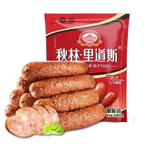 京东PLUS会员: 秋林里道斯 哈尔滨红肠 580g/袋 *3件