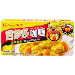 好侍(House) 咖喱 百梦多咖喱 原味 100g/盒 日式块状咖喱 *6件