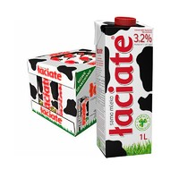 laciate 兰雀 全脂纯牛奶  1L*12盒*2箱