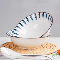 金玫瑰 陶瓷碗套装 家用流星雨 8英寸汤碗2个