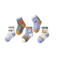 miaoyoutong 妙优童 A1004 儿童袜子5双装 立体恐龙 S码(10-13cm)