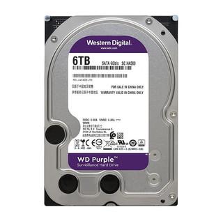 Western Digital 西部数据 紫盘系列 3.5英寸监控级硬盘 6TB 128MB(5400rpm、PMR)WD62EJRX