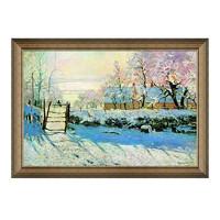莫奈风景油画《喜鹊》背景墙装饰画挂画 70×50cm