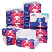 蓝漂 抽纸15包四层加厚 纸抽 卫生纸 餐巾纸 擦手纸白色便携抽纸面巾纸