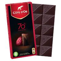 有券的上:COTE D'OR 克特多 金象 70%可可含量 黑巧克力 100g *5件