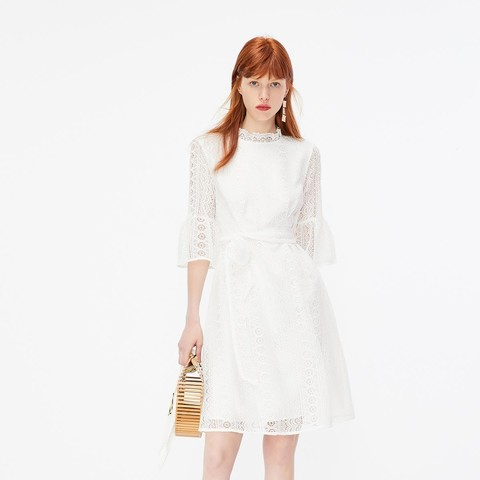 ONLY119307541女士蕾丝修身连衣裙
