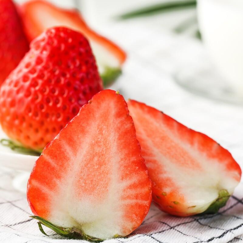 京东PLUS会员 :  农大腕儿 丹东99草莓  净重2.8斤(约40颗)