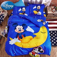 迪士尼家纺 梦幻米奇 卡通磨毛三件套 1.2m床